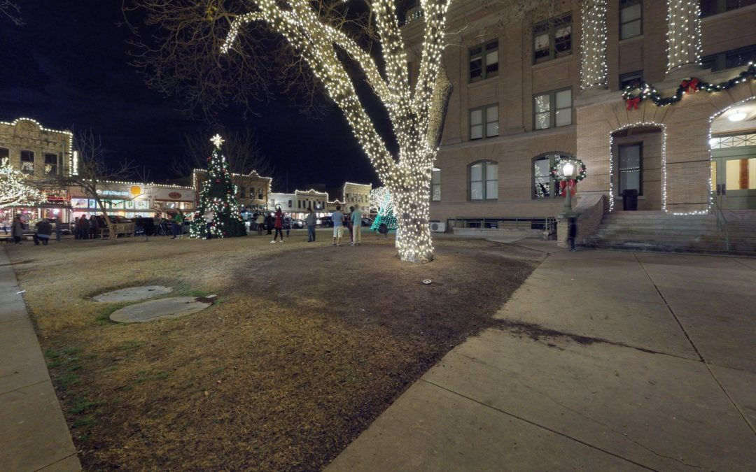 Georgetown Square at Christmas